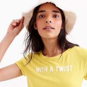 J. Crew Yellow With A Twist Graphic T-Shirt